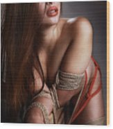 Tied Asian Girl Wood Print