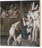 Tiepolo: Acrobats, 18th C Wood Print