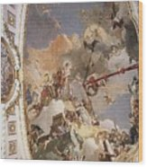 Tiepolo Palacio Real The Apotheosis Of The Spanish Monarchy Giovanni Battista Tiepolo Wood Print
