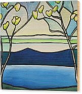 Tiffany And Blossoms Stained Glass Wood Print