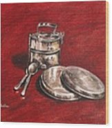 Tiffin Carrier - Still Life Wood Print