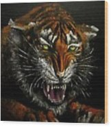 Tiger-1 Original Oil Painting Wood Print