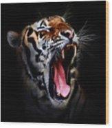 Tiger 10 Wood Print