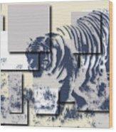 Tiger 5 Wood Print