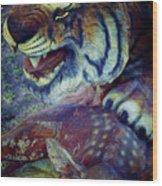 Tiger And Deer Wood Print
