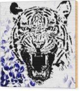 Tiger And Paisley Wood Print
