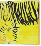 Tiger Animal Decorative Black And Yellow Poster 2 - By Diana Van Wood Print