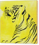 Tiger Animal Decorative Black And Yellow Poster 3 - By  Diana Van Wood Print