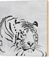 Tiger Animal Decorative Black And White Poster 1 - By  Diana Van Wood Print
