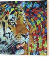 Tiger Big Colors Wood Print