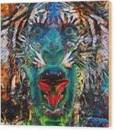 Tiger Blood Wood Print