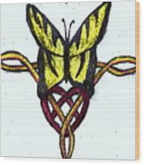 Tiger-butterfly Celtic Double Knot Wood Print