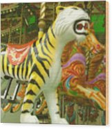 Tiger Carousel Wood Print