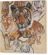 Tiger Haven Wood Print