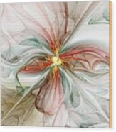 Tiger Lily Wood Print by Amanda Moore