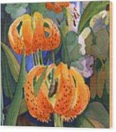 Tiger Lily Parachutes Wood Print