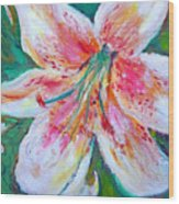 Tiger Lily Passion Wood Print