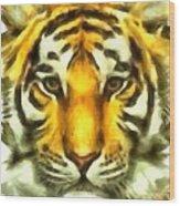 Tiger Painted Wood Print