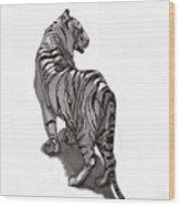 Tiger Pose Wood Print