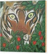 Tiger Prey  Wood Print