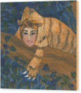 Tiger Sphinx Wood Print