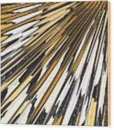 Tiger Stripes Wood Print