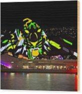 Tiger Tiger Burning Bright - Sydney Vivid Festival Wood Print