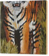 Tiger Wildlife Art Wood Print