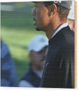 Tiger Woods IIi Wood Print by Chuck Kuhn