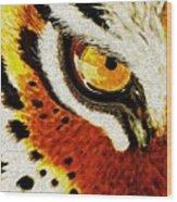 Tiger's Eye Wood Print