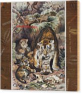 Tigers For Responsible Tourism Wood Print