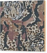 Tigers Tigers Burning Bright Wood Print by Ruth Edward Anderson