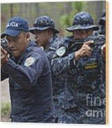 Tigres Commandos Conduct Bounding Wood Print