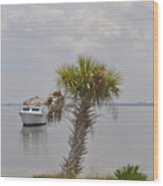 Tiki Boat Wood Print