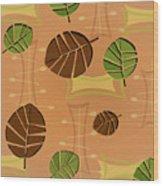 Tiki Lounge Wallpaper Pattern Wood Print