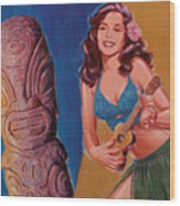 Tiki Tarts- I Love Nobody But Uke Baby Wood Print