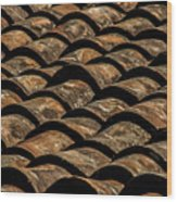 Tile Roof 3 Wood Print