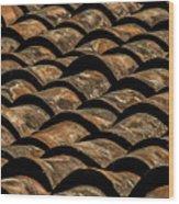 Tile Roof 4 Wood Print