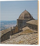 Tile Roof Tops Of Volterra Italy Wood Print