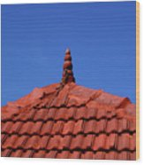 Tiled Roof Near Ooty, India Wood Print