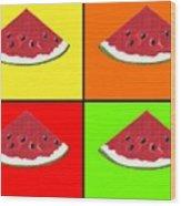 Tiled Watermelon Wood Print