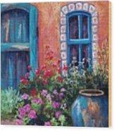 Tiled Window Wood Print