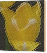 Tiled Yellow Tulip Wood Print