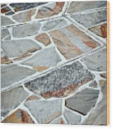 Tiles From Sandstone Quarried Stone Wood Print