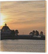 Tilghman Island Marina At Sunrise Wood Print