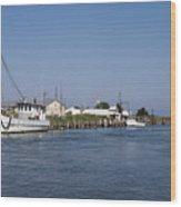 Tilghman Island Water Way Eastern Shore Of Maryland Wood Print