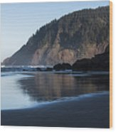 Tillamook Head Reflection Wood Print