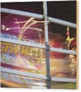 Tilt-a-whirl 1 Wood Print