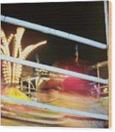 Tilt-a-whirl 2 Wood Print