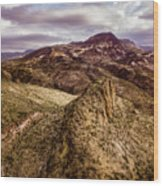 Tilt-shift Mountain Peak Wood Print
